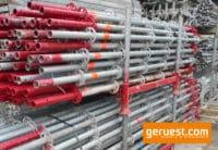 Vertikalstiel 3,00 m gebraucht mit Rohrverbinder - Layher Gerüstteile