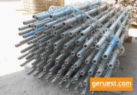 Vertikalstiele 2,00 m _ Layher Allround Modulgerüst 210 qm mit 2,57 m Stahlbelägen