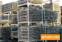 Vertikalstiele_ Layher Allround Gerüst 658 qm mit Stahlbelägen 3,07 m