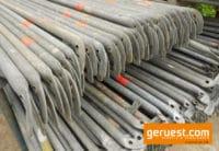 Layher Blitz 73 Rückengeländer gebraucht für 501 qm Fassadengerüst