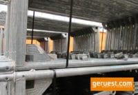 Vertikalrahmen Stahl _ Layher Blitz Gerüst 84,9 qm mit langen Stahlbelägen